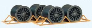 Сет модель для самостоятельной сборки современные катушки для кабеля подготовленные для транспортировки по ж.д..Пр-во PREISER.Арт.17117.Масштаб HO (1:87).