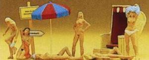 Сет нудистский пляж.Фирма PREISER.Арт.10107.Масштаб НО (1:87).
