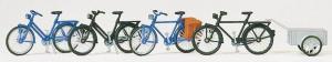 Сет модель для сборки велосипеды и велосипед с прицепом.Пр-во PREISER.Арт.17161.Масштаб HO (1:87).