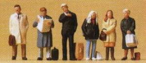 Сет ожидающих путешественников.Фирма PREISER 10411.Масштаб НО (1:87).