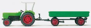 Сет модель трактора Deutz Ackerschlepper D 6206 с прицепом (готовая модель).Пр-во PREISER.Арт.17914.Масштаб HO (1:87).