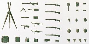 Сет модель №1 из некрашенных предметов вооружения Вермахта 1939-1945года.Пр-во PREISER.Арт.18357.Масштаб HO (1:87).