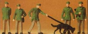 Сет полицейских с собакой.Фирма PREISER.Арт.14008.Масштаб НО (1:87).