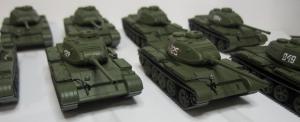 Модель танка Т-44М ( различные номера ) готовая модель.Пр-во Z@Z.Арт.Масштаб 1:87 (НО).