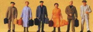 Сет фигурок пассажиров-путешественников.Фирма PREISER.Арт.14019.Масштаб НО (1:87).