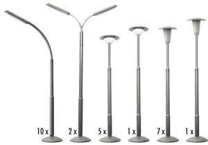 Модель-набор 26 штук уличных столбов освещения.Пр-во FALLER.Арт.180538.Масштаб НО (1:87).