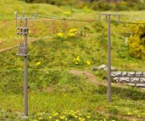 Модель 4-х электрических столбов.Арт.180928.Масштаб НО (1:87).