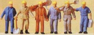 Сет фигурок строительных рабочих.Пр-во PREISER.Арт.14033.Масштаб НО (1:87).