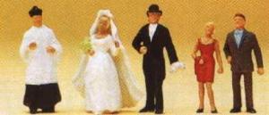 Сет католической свадьбы.Фирма PREISER 14058.Масштаб НО (1:87).