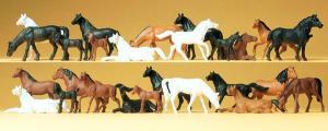 Сет 26 фигурок-лошадей.Пр-во PREISER.Арт.14407.Масштаб НО (1:87).