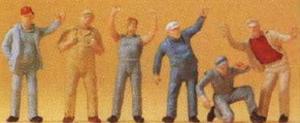 Сет стоящих фигурок водителей.Фирма PREISER.Арт.14127.Масштаб НО (1:87).