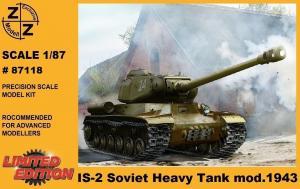 Модель танка IS-2 мод.1943года-для самостоятельной сборки.Пр-во Z@Z.Арт.87118.Масштаб 1:87 (НО).