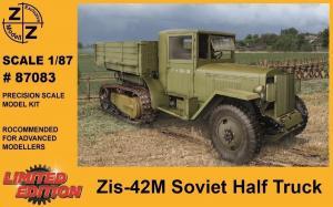 Для предзаказов!!!Модель грузовика ZIS-42M Soviet Half Truck-для самостоятельной сборки.Пр-во Z@Z.Арт.87083.Масштаб 1:87 (НО).