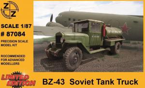 Модель грузовика-заправщика BZ-43 Soviet Tank Truck-для самостоятельной сборки.Пр-во Z@Z.Арт.87084.Масштаб 1:87 (НО).