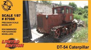 Модель трактора DT-54 Caterpillar-для самостоятельной сборки.Пр-во Z@Z.Арт.87086.Масштаб 1:87 (НО).
