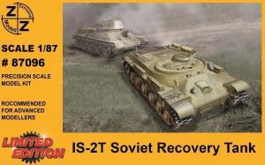 Модель танка IS-2T Soviet Recovery Tank-для самостоятельной сборки.Пр-во Z@Z.Арт.87096.Масштаб 1:87 (НО).