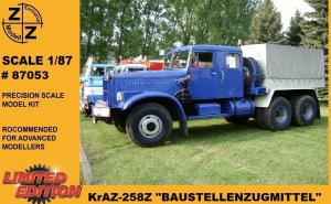 Модель грузовика KrAZ-258Z Baustellenzugmittel-для самостоятельной сборки.Пр-во Z@Z.Арт.87053.Масштаб 1:87 (НО).