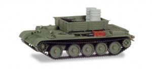 Модель танка Т-54 (вариант для подвоза разл.материалов).Пр-во MINITANKS.Арт.745895.Масштаб 1:87 (НО).