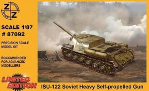 Модель танка ИСУ-122-для самостоятельной сборки.Пр-во Z@Z.Арт.87092.Масштаб 1:87 (НО).