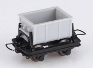 Модель сета 4-х вагонов для перевозки цемента (на фото 1вагон из сета).Пр-во MINITRAINS.Арт.5102.Масштаб НОе (1:87).
