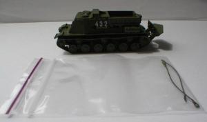Готовая модель танка БТТ-1 (на фото с номером,может быть и без него).Пр-во Z@Z.Масштаб 1:87 (НО).