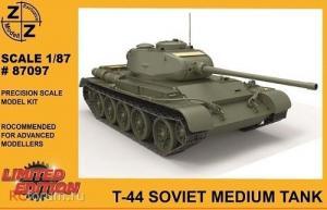 Для предзаказов!!!Модель танка Т-44-для самостоятельной сборки.Пр-во Z@Z.Арт.87097.Масштаб 1:87 (НО).