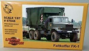 Модель KrAZ FK-1 Faltkoffer der NVA-для самостоятельной сборки.Пр-во Z@Z.Арт.87048.Масштаб 1:87 (НО).