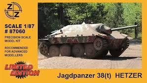 Модель танка Jagdpanzer 38t HETZER-для самостоятельной сборки.Пр-во Z@Z.Арт.87060.Масштаб 1:87 (НО).