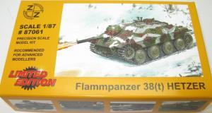 Модель танка Flammpanzer 38t HETZER-для самостоятельной сборки.Пр-во Z@Z.Арт.87061.Масштаб 1:87 (НО).