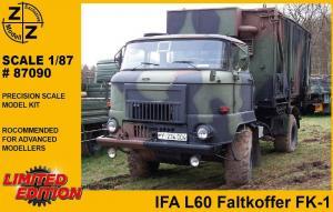 Модель IFA L-60 mit Faltkoffer FK-1-для самостоятельной сборки.Пр-во Z@Z.Арт.87090.Масштаб 1:87 (НО).
