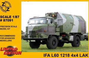Модель IFA L 60 1218 4x4 LAK 2-для самостоятельной сборки.Пр-во Z@Z.Арт.87091.Масштаб 1:87 (НО).