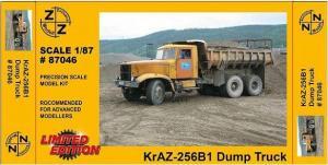Модель KrAZ B1 Kipper-для самостоятельной сборки.Пр-во Z@Z.Арт.87046.Масштаб 1:87 (НО).