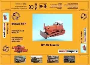 Модель трактора DT-75 Tractor-для самостоятельной сборки.Пр-во Z@Z.Арт.87131.Масштаб 1:87 (НО).