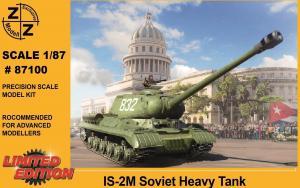 Модель танка IS-2M-для самостоятельной сборки.Пр-во Z@Z.Арт.87100.Масштаб 1:87 (НО).