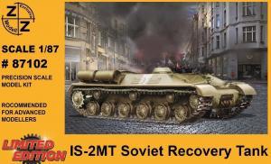 Модель танка IS-2MT Soviet Recovery Tank-для самостоятельной сборки.Пр-во Z@Z.Арт.87102.Масштаб 1:87 (НО).
