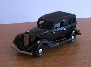 Модель ГАЗ-М1-цвет черный-готовая модель.Пр-во Z@Z.Масштаб 1:87 (НО).