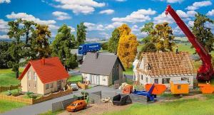 Новинка осень 2018!Модель сета строительство частных домов Aktions-Set Baugebiet.Пр-во FALLER.Арт.190067.Масштаб НО (1:87).