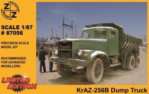 Модель KrAZ 256B Dump Truck-для самостоятельной сборки.Пр-во Z@Z.Арт.87056.Масштаб 1:87 (НО).