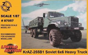 Модель KrAZ 255B1 6*6 Heavy Truck-для самостоятельной сборки.Пр-во Z@Z.Арт.87057.Масштаб 1:87 (НО).