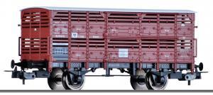 Модель 2-х осного крытого вагона для перевозки скота.Пр-во TILLIG.Арт.76711.Масштаб НО (1:87).