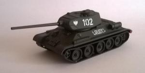 Модель танка Т-34 №102 Rudy.Пр-во DeBerg.Арт.475.Масштаб НО (1:87).