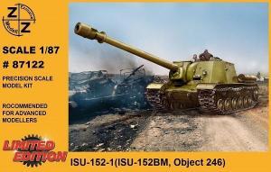 Модель танка ИСУ-152-1 для самостоятельной сборки.Пр-во Z@Z.Арт.87122.Масштаб 1:87 (НО).