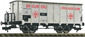 Модель 2-х осного крытого вагона с тормозной площадкой.Пр-во FLEISCHMANN.Арт.534804.Масштаб НО (1:87).