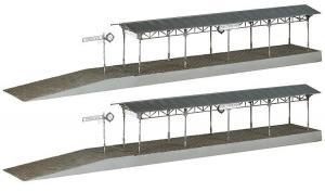 Модель 2-х перронов для ж.д. вокзала