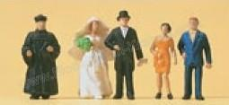 Сет свадьба по протестанскому обряду.Фирма PREISER.Арт.14057.Масштаб НО (1:87).