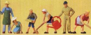 Сет садовых работников.Фирма PREISER.Арт.14081.Масштаб НО (1:87).