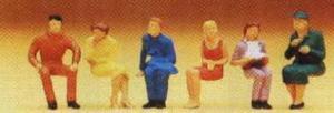 Сет сидящие люди.Фирма PREISER.Арт.14095.Масштаб НО (1:87).