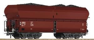 Модель 4-х осного саморазгружающегося вагона для перевозки угля.Пр-во ROCO.Арт.56333.Масштаб НО (1:87).