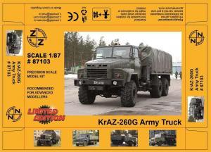 Модель KrAZ-260G Army Truck-для самостоятельной сборки.Пр-во Z@Z.Арт.87103.Масштаб 1:87 (НО).