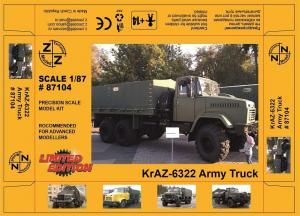 Модель KrAZ-6322 Army Truck-для самостоятельной сборки.Пр-во Z@Z.Арт.87104.Масштаб 1:87 (НО).